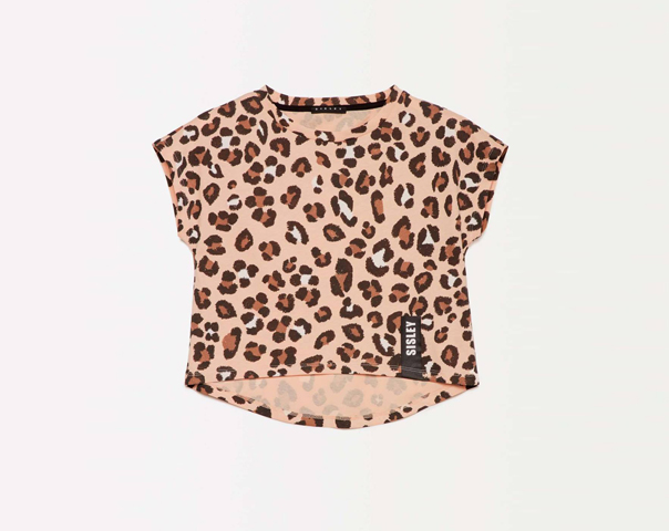 Cropped-T-Shirt mit Print