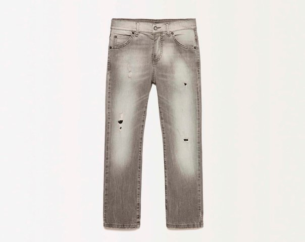 Jeans mit Destroyed-Effekt