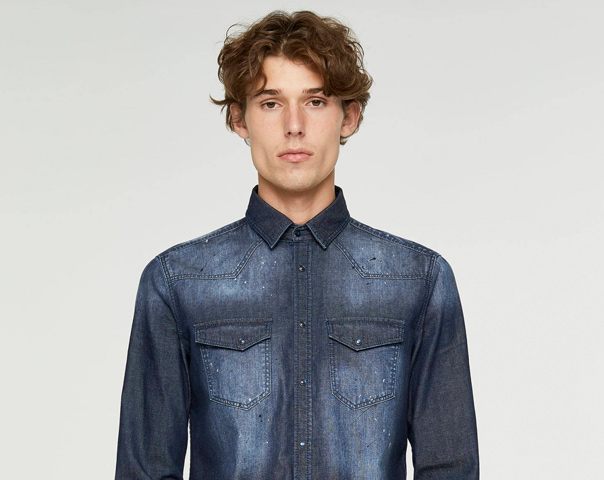 Denim-Hemd
