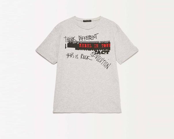 T-Shirt mit aufgedrucktem Lettering
