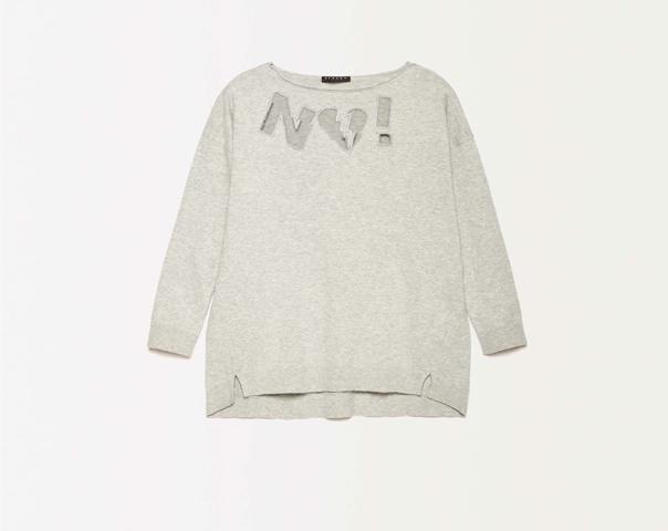 Pullover mit Einsatz aus Netzstoff
