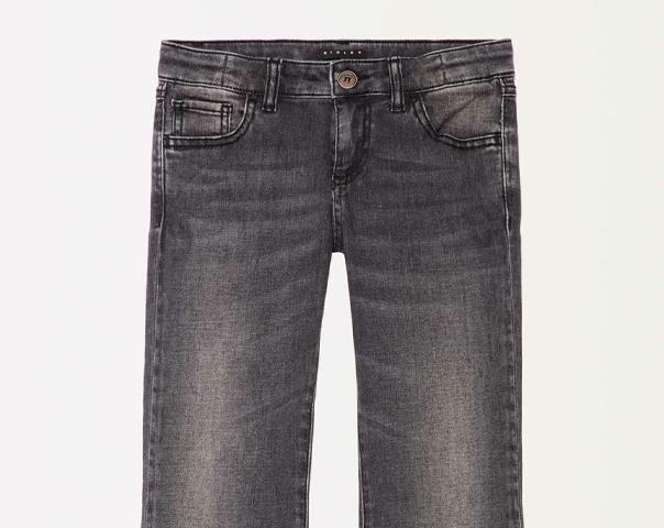 Jeans mit Spitze und Fransen